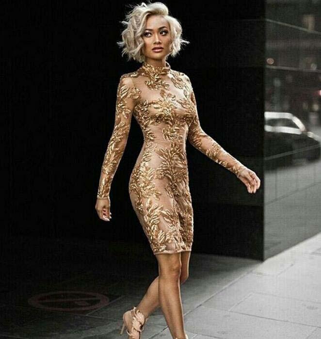 3c6bf073 Cora Sequin Dress - Copper & Peach